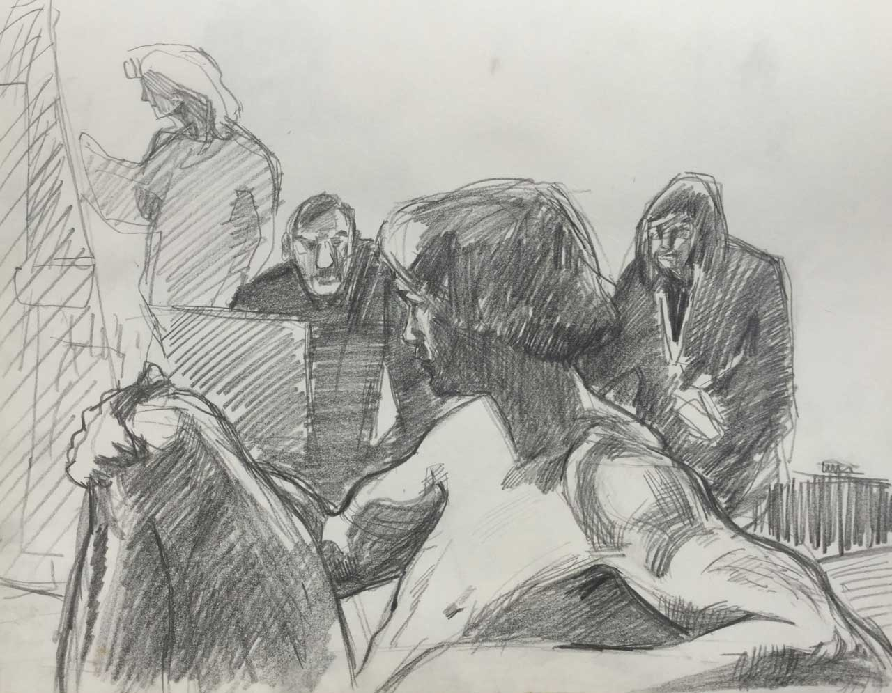 1977 Model drawing at Academie Minerva