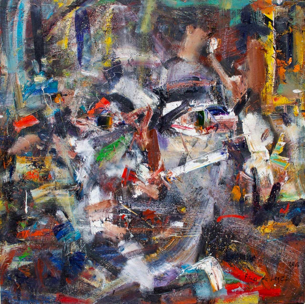 2018 Oil on canvas 150/150 cm.