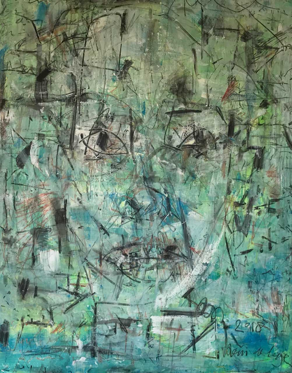 2018 Acrylic on canvas 162/130 cm. (sold)