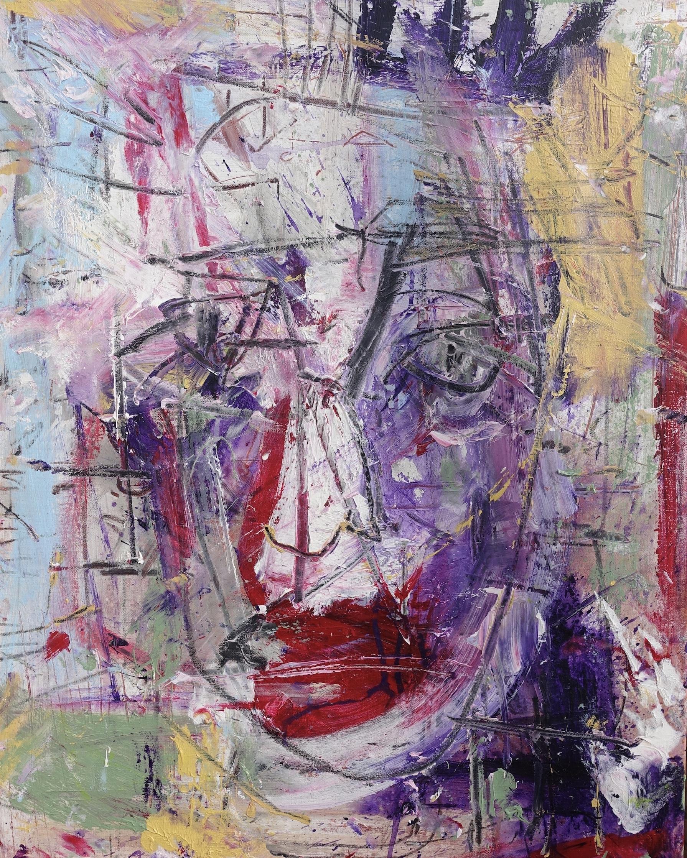 2019 November-Face 1. Acrylic on canvas 81/65 cm.