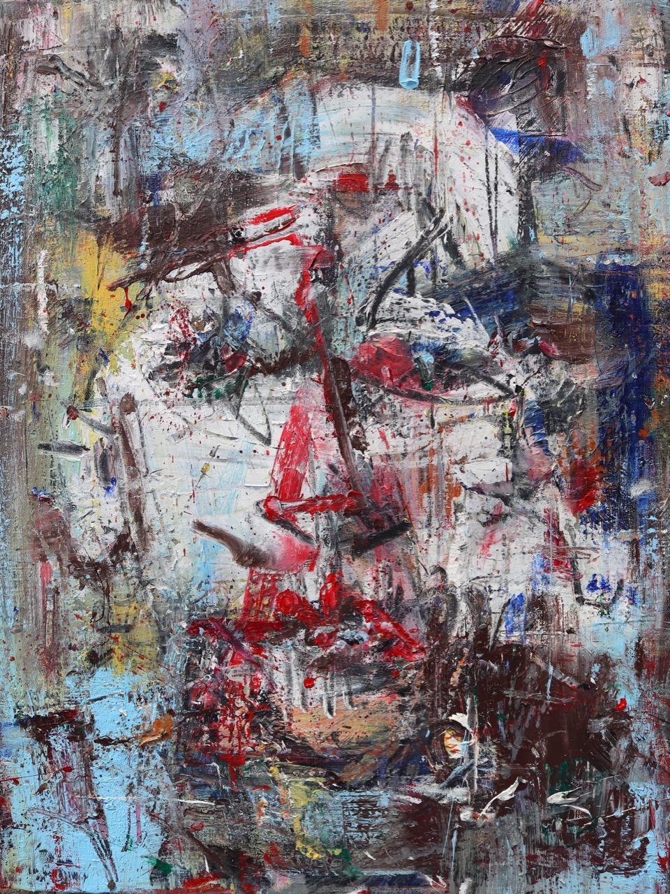2019 November-Face 1. Acrylic on canvas 73/60 cm.