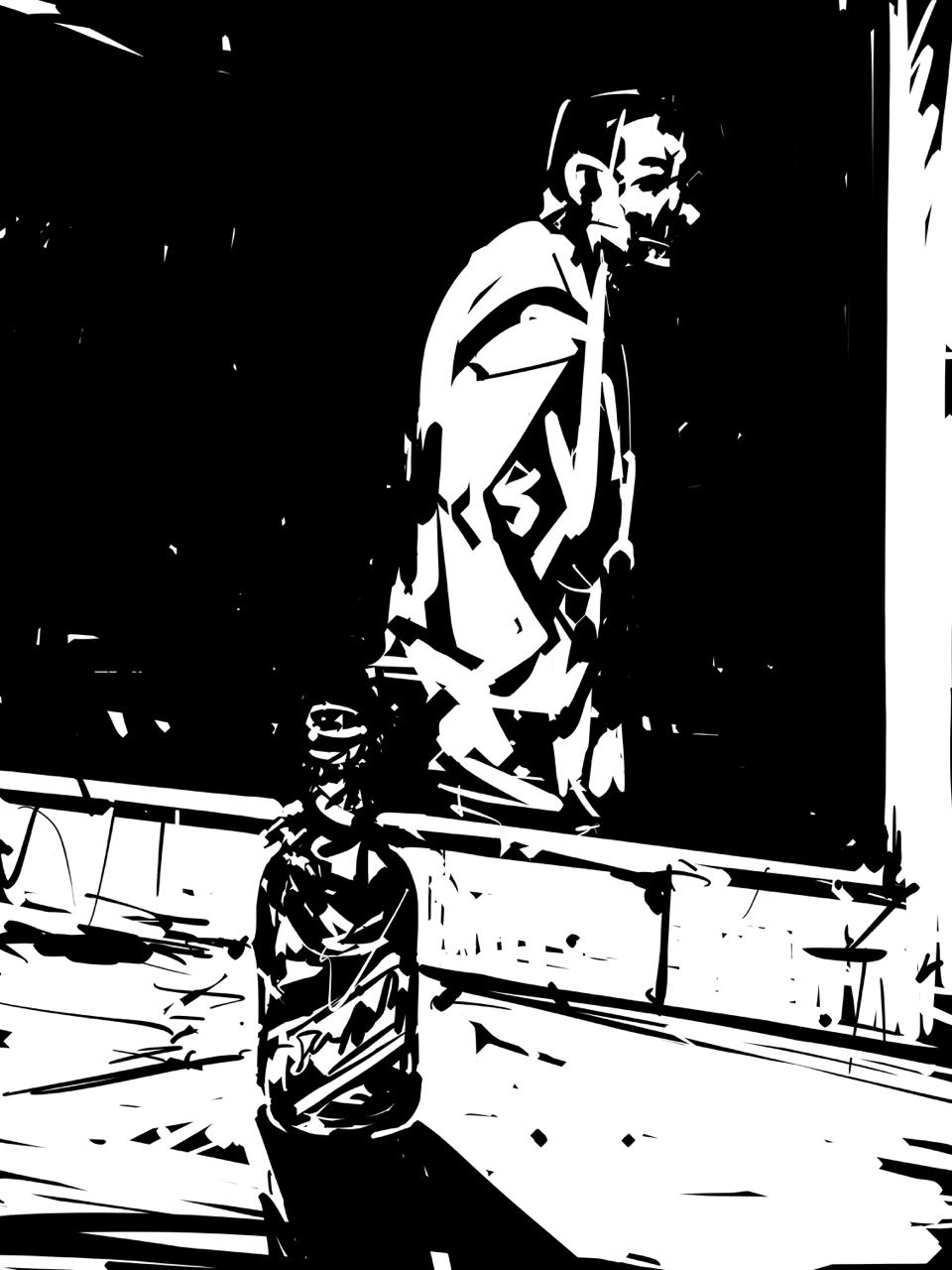 The beer bottle