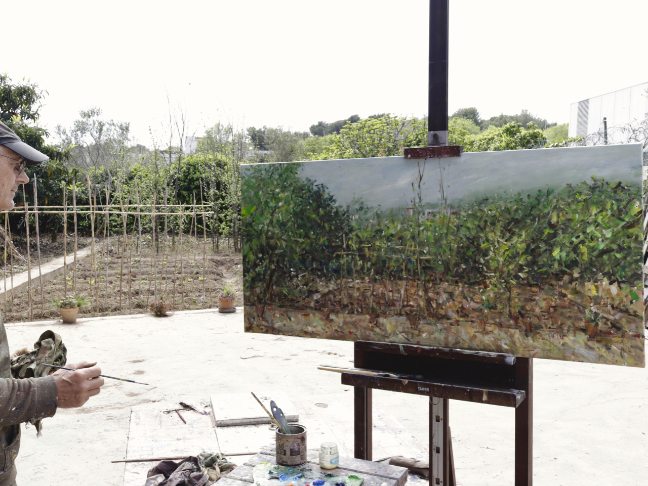 Painting in my garden March, 2020