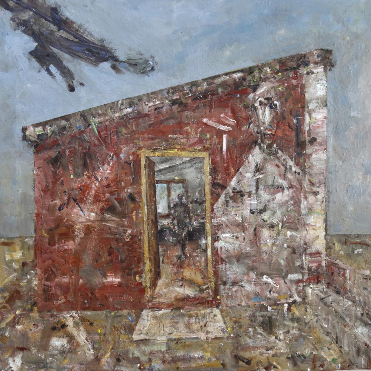 In my studio.  (April 2020) Oil on canvas