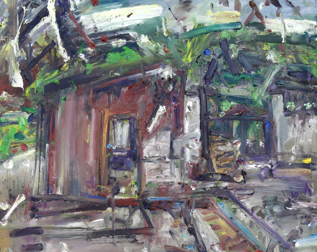 My studio (May) Oil on canvas
