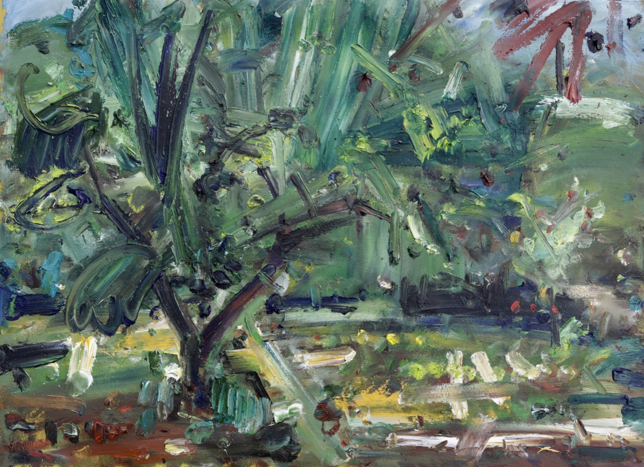 Garden view (May 2020) Oil on canvas