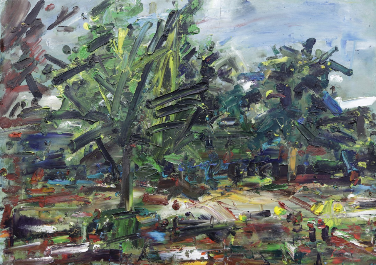 Garden with tree ( May 2020) Oil on canvas