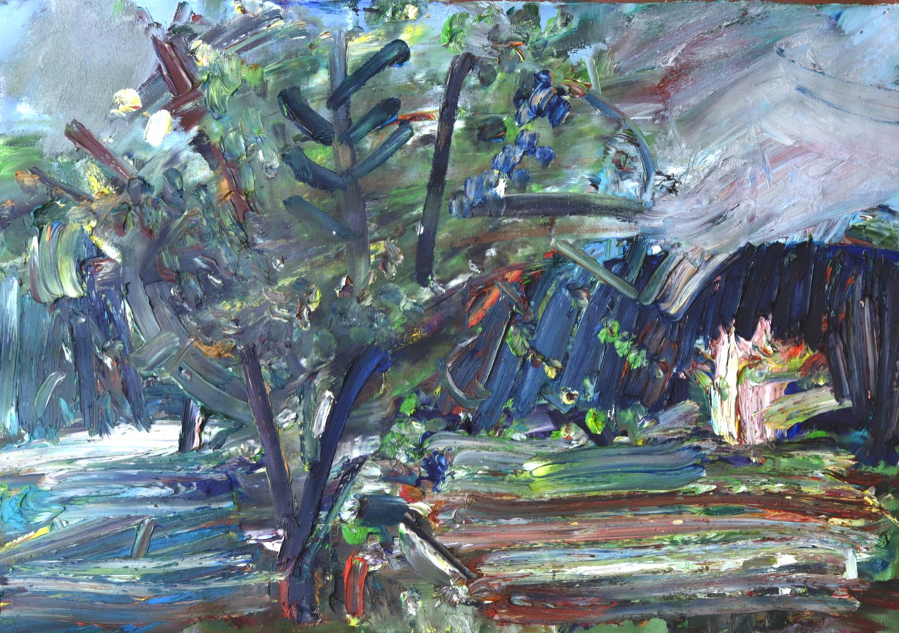 Expressionistic Garden (May 2020) Oil on canvas