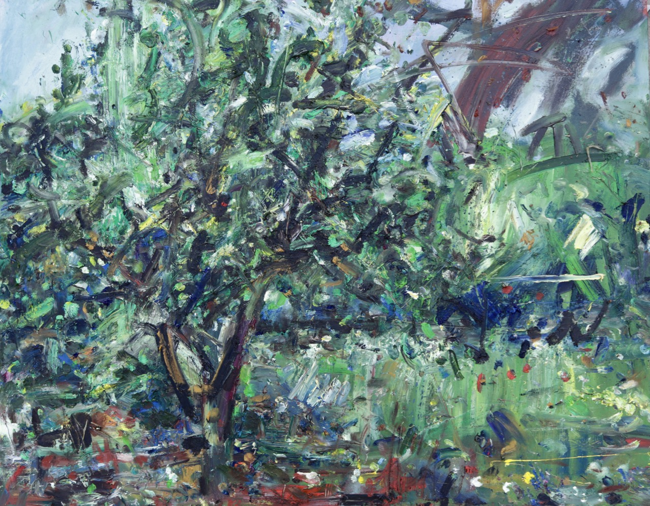 The pear tree (May 2020) Oil on canvas